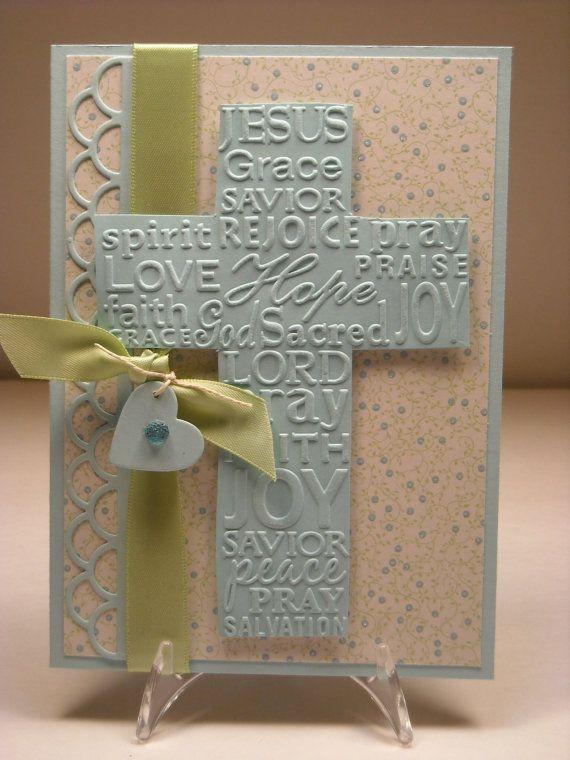 Inspirational greeting card Aqua and green by FreshStartPaperGoods, $3.75
