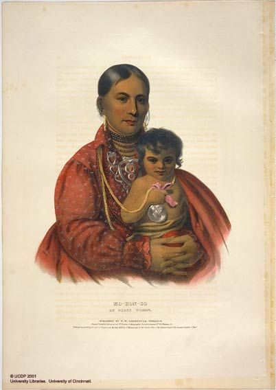 Osage Sioux Woman and Child