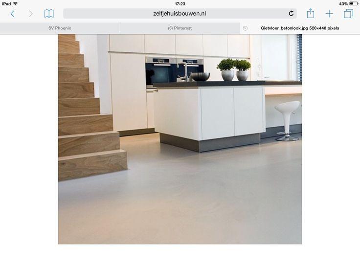Gietvloer voor keuken en bar idee voor kookeiland moodboard keuken pinterest apartment therapy - Luminai re voor de keuken bar ...