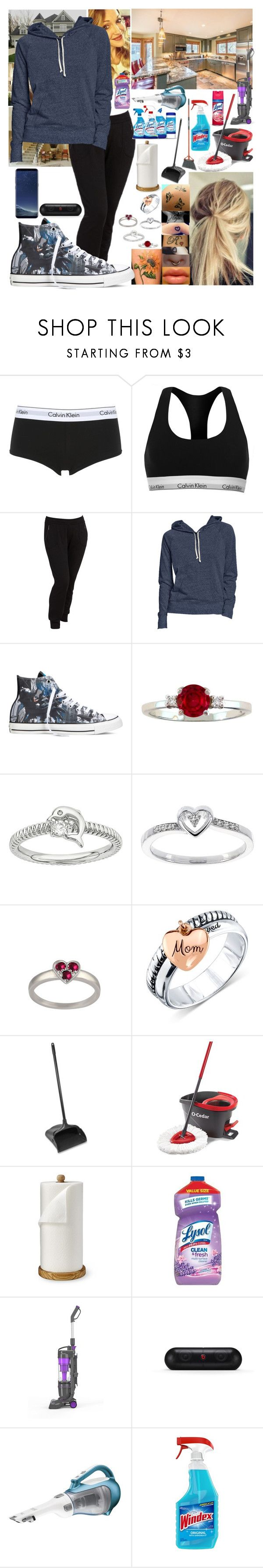 """""""Cleaning the house"""" by spidey31 ❤ liked on Polyvore featuring Calvin Klein Underwear, Calvin Klein, Old Navy, Converse, Modern Bride, Unwritten, Rubbermaid, Williams-Sonoma, Beats by Dr. Dre and Samsung"""