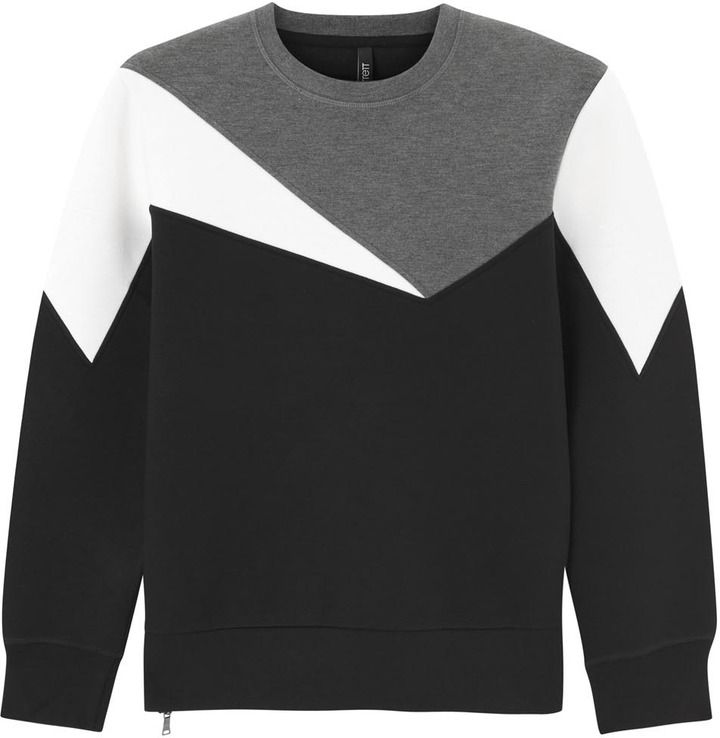 Neil Barrett Colour block neoprene sweatshirt on shopstyle.co.uk