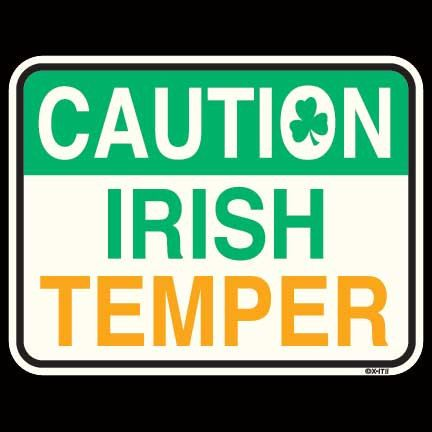 Caution Irish Temper Shirt - St. Patrick's Day Shirt - 12436 on Etsy, $14.95