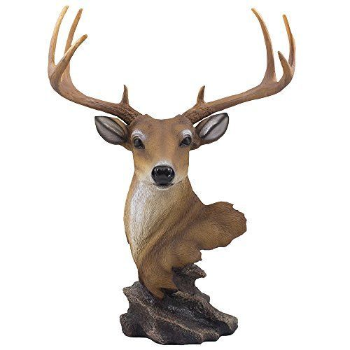 Decorative Buck Bust Statue or Deer Head Sculpture with 8-point Antlers for Rustic Lodge or Hunting Cabin Decor Wildlife Art Display Centerpiece As Gifts for Hunters & Bucks Fans Home-n-Gifts http://www.amazon.com/dp/B00TYUJ2L0/ref=cm_sw_r_pi_dp_3cSNvb0RNVQVX