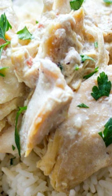 Creamy Crockpot Chicken and Rice