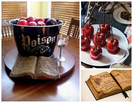 Best way to display your candied apples; add the how-to-poison-apples recipe book hehehe