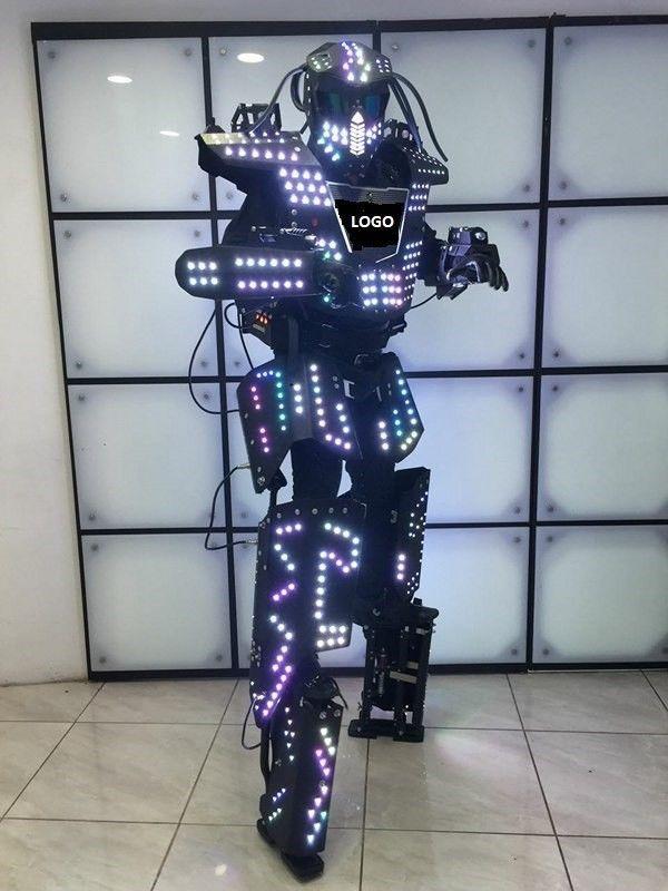 Amazing Led Robot Costume Robots Suit Dj Traje Party Show Glow Suits