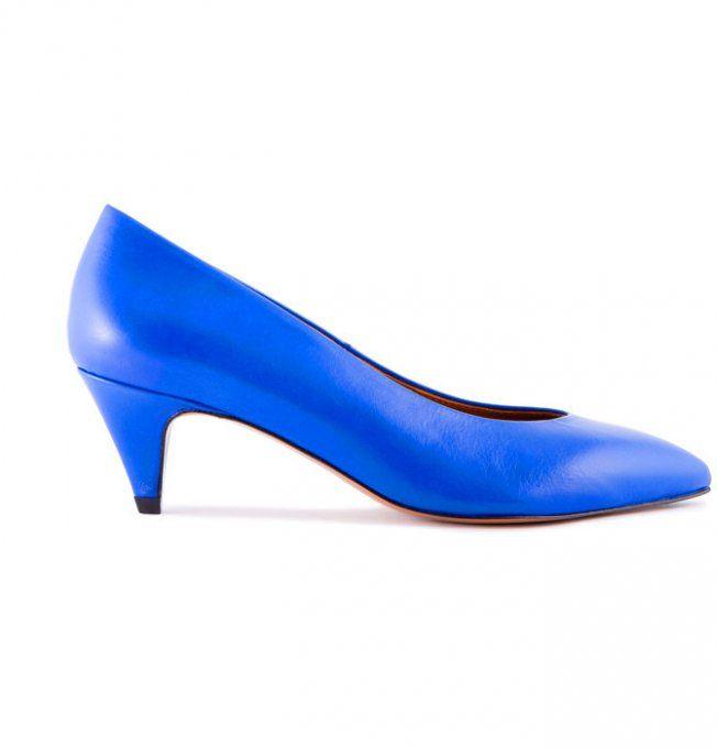 Escarpins bleu électrique