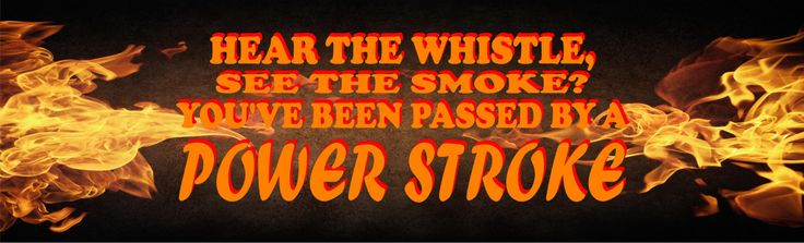 Power Stroke Flaming Rear Window Decal Wrap Full Size Truck by LetsPrintBig on Etsy