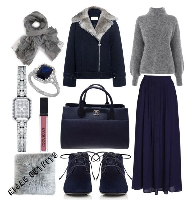 """""""Cold"""" by mennah-ibrahim on Polyvore featuring Carven, Warehouse, Chanel, The Row and Smashbox"""