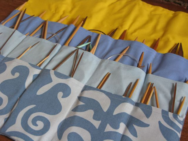 Have to make one soon--knitting needle storage
