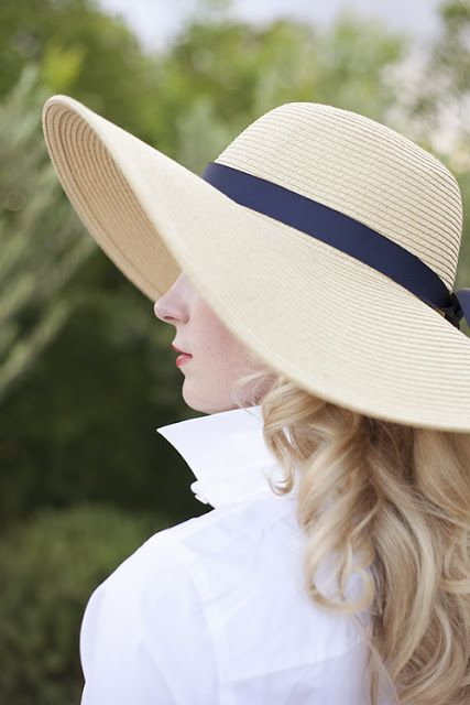 love the looks of this straw hat for summer. Beautiful (and smart!) for the beach