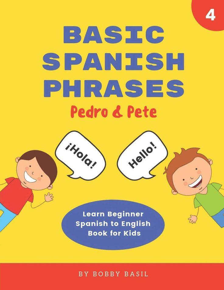 Learn basic spanish phrases with this fun book for kids
