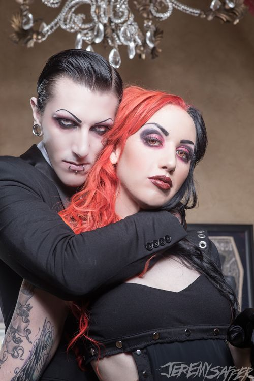 "Chris Motionless & Ash Costello in the music video for ""Angel Eyes"" By New Years Day ft. Chris Motionless❤️❤️❤️"