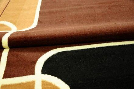 Dywan tradycyjny Ramka z prostokątów w kolorze brązowym.