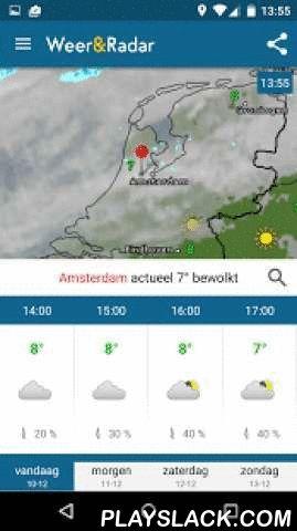 Weather & Radar  Android App - playslack.com ,  DroidApp.nl: Beste weer-app van 2015!De radarplattegrond met neerslag, onweer, wolken, slecht weer, temperatuur.Zoek overal het lokale weer.Plan je volgende trip en wees voorbereid.Weer Nederland en Belgie, buienalarm, weeronline, weer alarm, weerbericht.Sneeuw voorspelling, Buienradar belgie gratis, weather.Belangrijkste functies:• 8-daagse verwachting voor alle locaties wereldwijd• Neerslagradar elke 5 minuten bijgewerkt• Plattegrond voor…