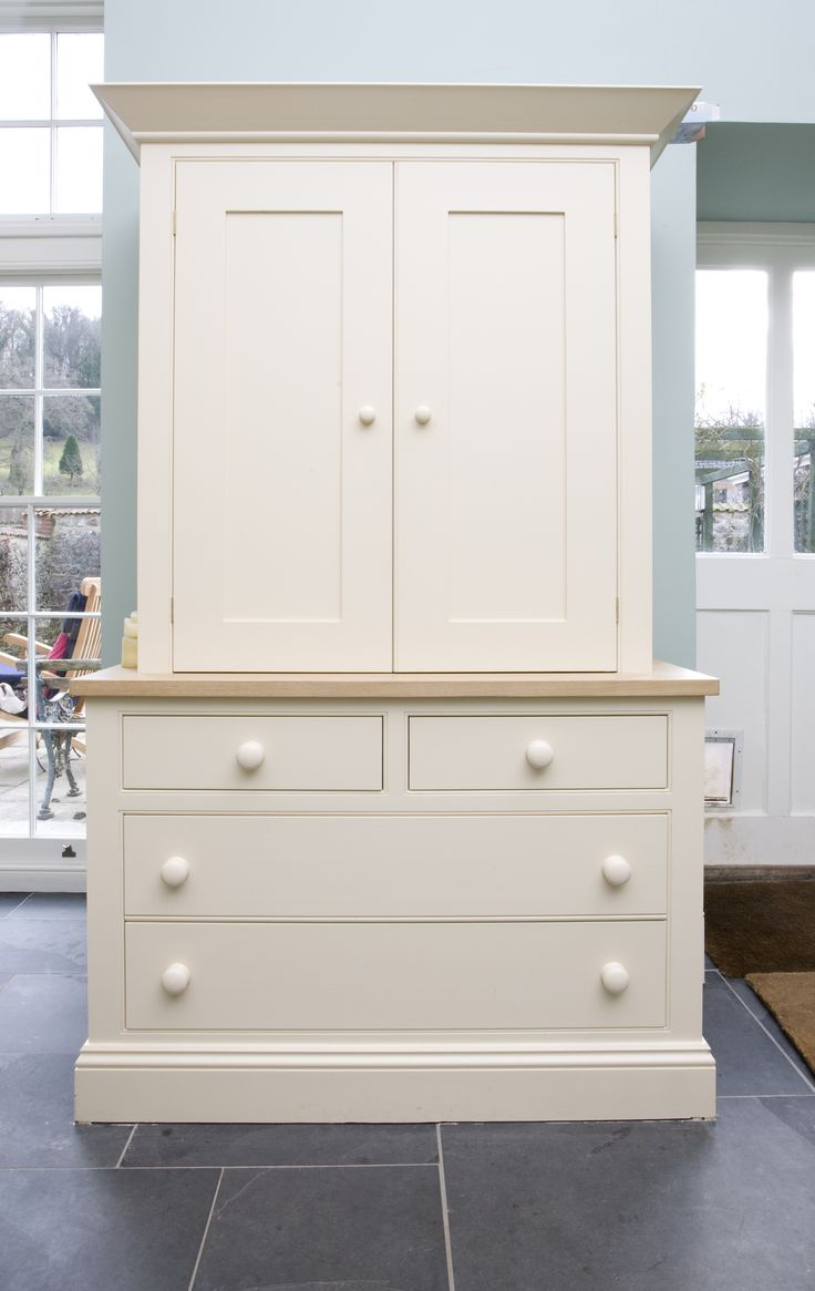 Freestanding made to order pantry by barnes of ashburton doors closed kitchen ideas - Kitchen freestanding pantry ...