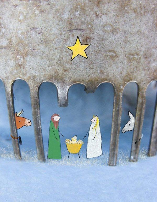 Christmas artwork by Lotte van Dijck