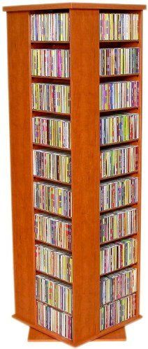 Revolving Media Tower 1000 Cherry by Venture Horizon. $249.95. Revolving Media Tower 1000Width 19.25Length 19.25. Save 11% Off!