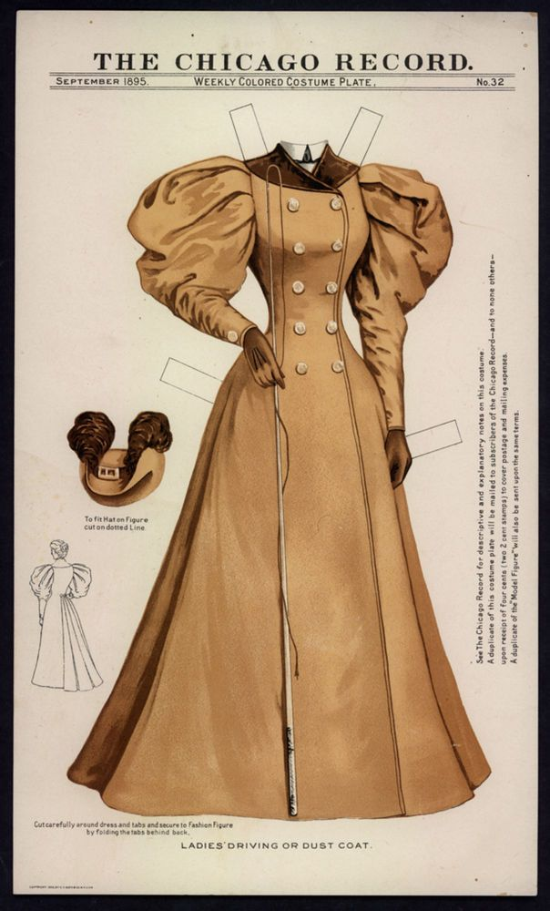 UNCUT+#32 Chicago Record Paper Doll Dress