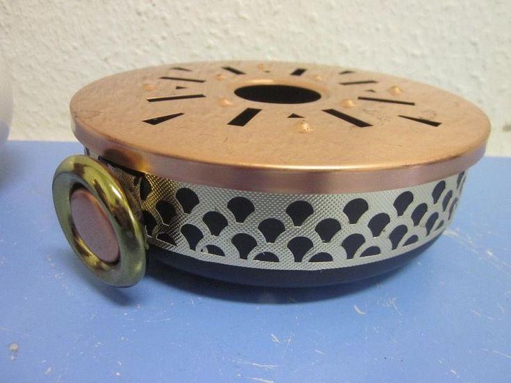 German mid-century modernist copper brass tea warmer post Bauhaus