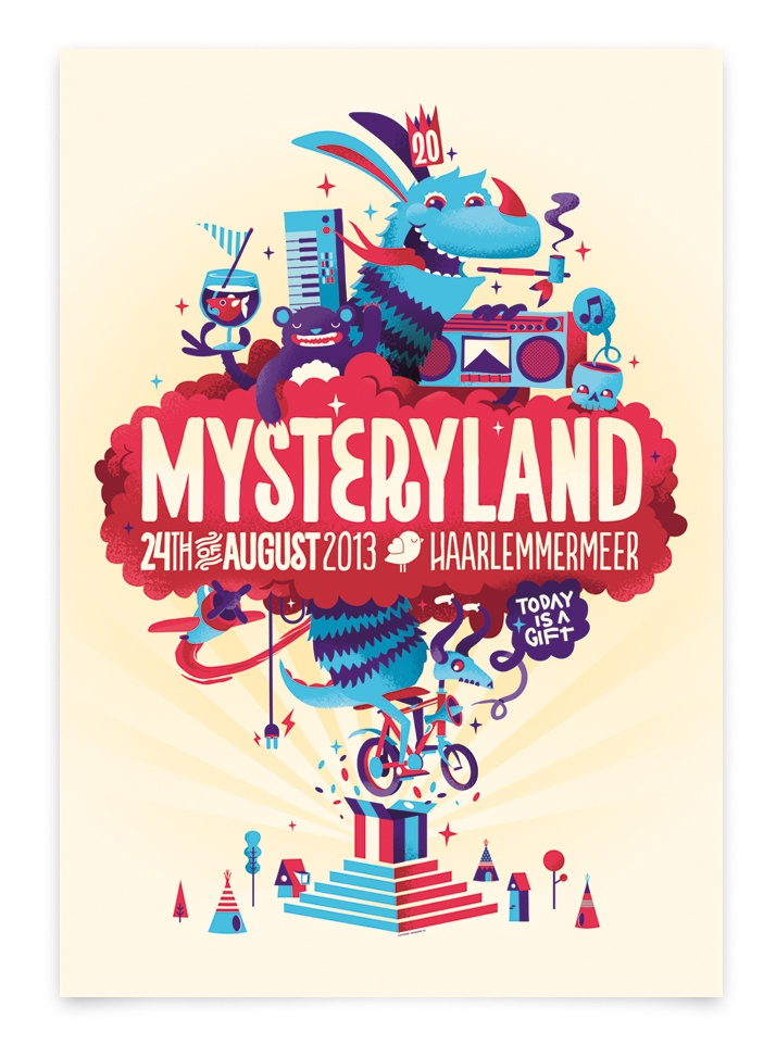 We're very proud that Mysteryland festival asked us to design their identity for the 2013 edition.