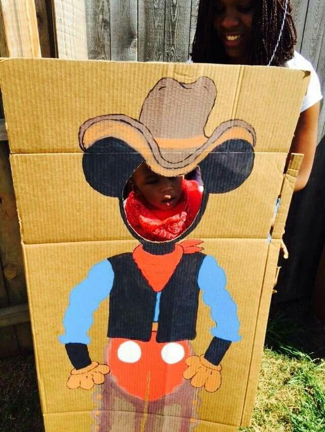 Cowboy Mickey photo booth
