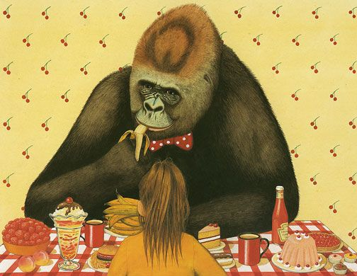 Anthony Browne: Gorilla, illustration by Anthony Browne