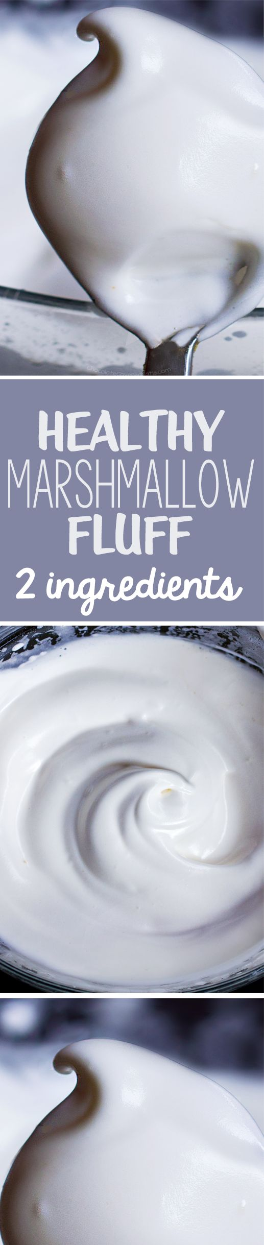 Just 5 minutes + 2 ingredients = the most amazing healthy marshmallow fluff recipe, and vegan
