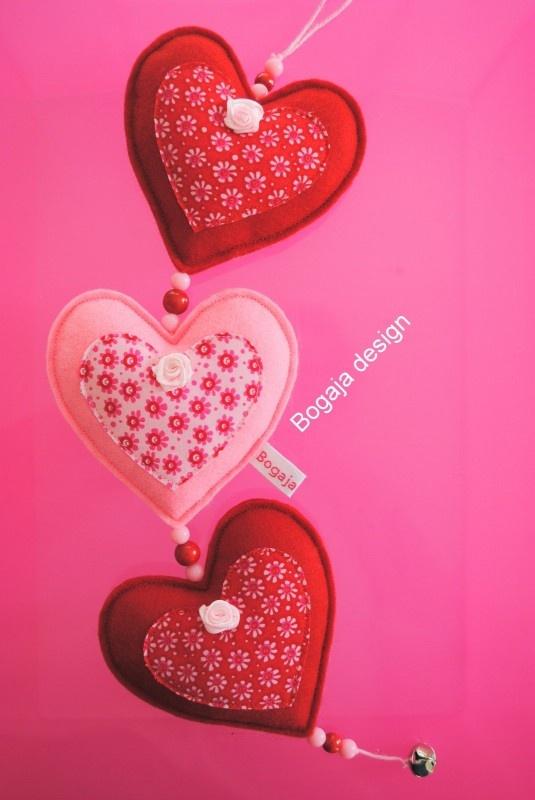hartjesslinger rood / roze | Hartjesslingers | Bogaja design
