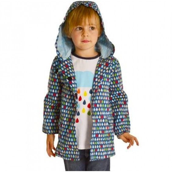Oobi Splish Splash Navy Raincoat