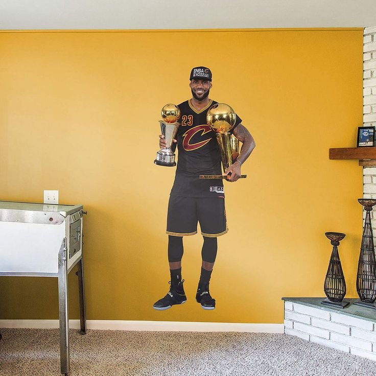 Cleveland Cavaliers LeBron James 2016 NBA Finals Trophy Wall Decal by Fathead, Multicolor