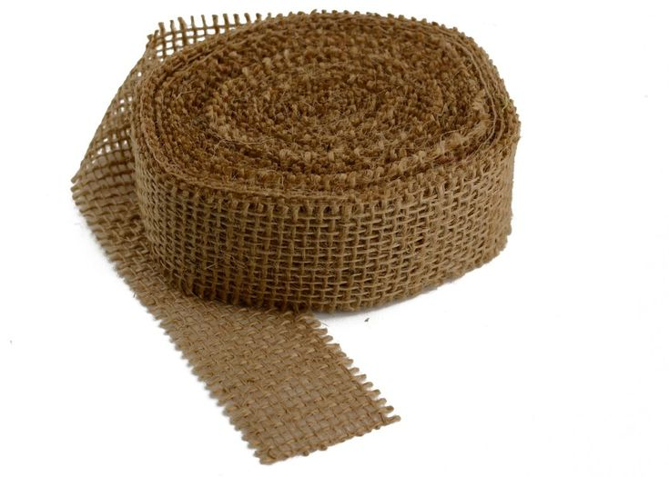 This is burlap ribbon in our most popular natural ivory for Burlap ribbon craft ideas
