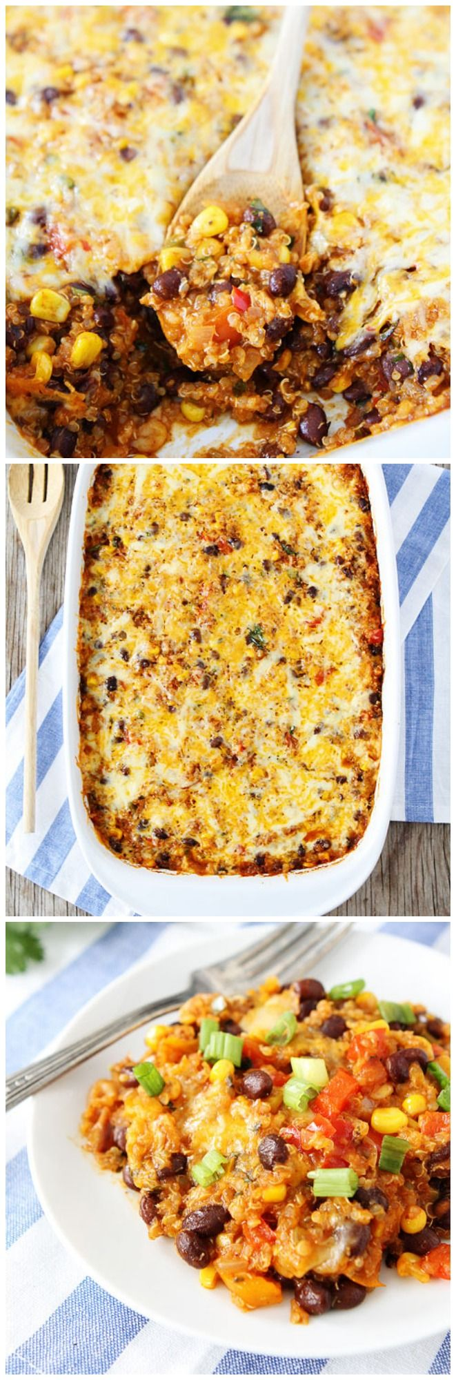 Black Bean and Quinoa Enchilada Bake Recipe on twopeasandtheirpod.com My new favorite meal! You HAVE to try this recipe!
