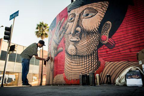 Nunca - Mural @ Los Angeles, Usa (2013)