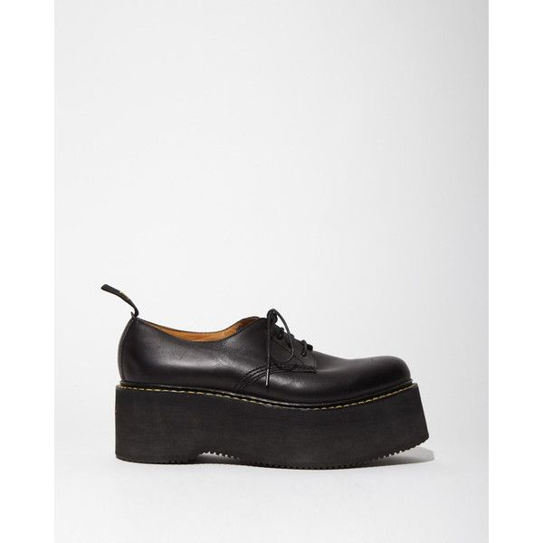 R13 X-Stack Oxfords (266.690 HUF) ❤ liked on Polyvore featuring shoes, oxfords, black, chunky shoes, chunky platform shoes, black mid heel shoes, mid heel platform shoes and mid-heel shoes