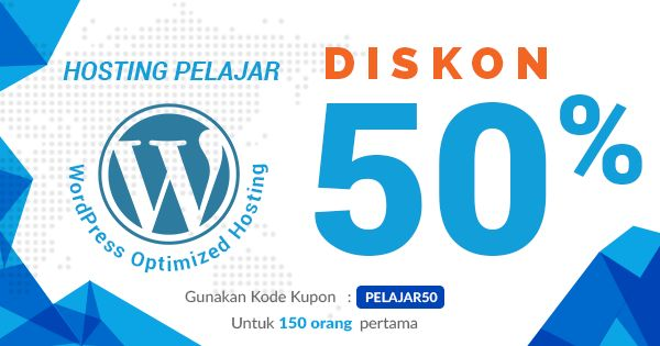 Kereeen.. Niagahoster.co.id banyak promo. Hosting pelajar Diskon 50%. Promo hanya untuk 150 orang pertama. Order Now!