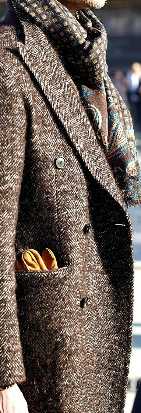 Men's Fashion ~ Tweed Topcoat