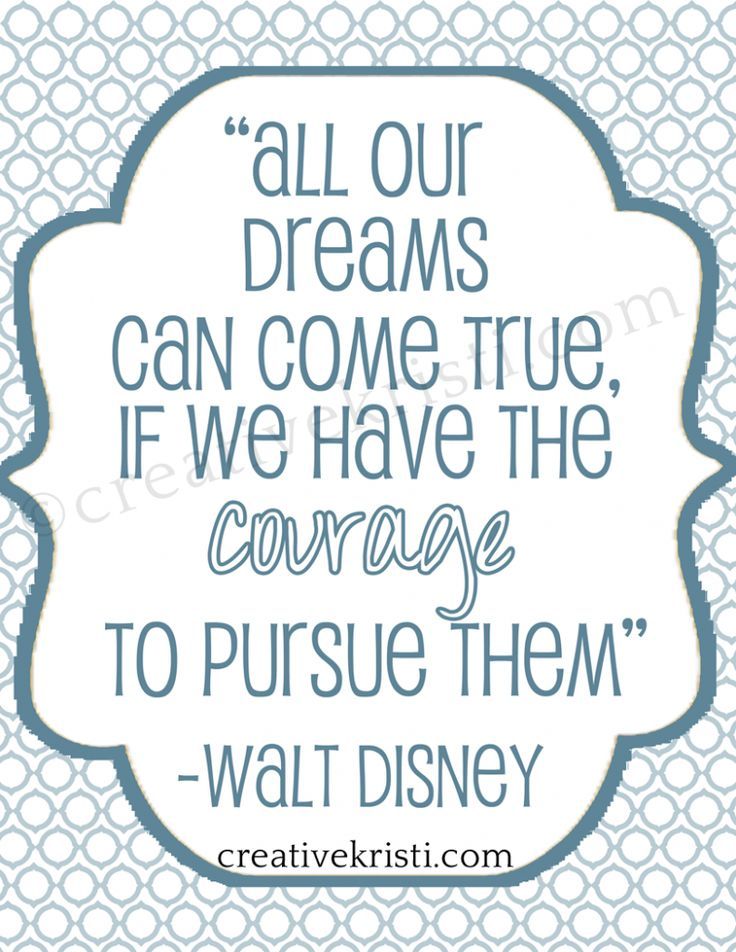 Inspirational Walt Disney Quotes: FREE Printable Walt Disney Quote From Http://www