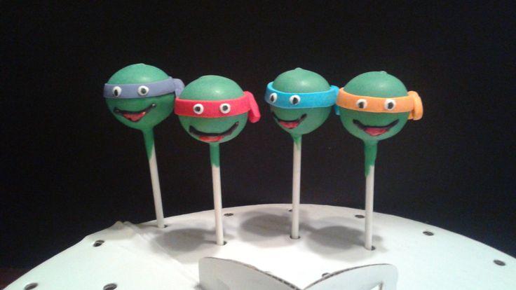 Teenage Mutant Ninja Turtle Cake Pops