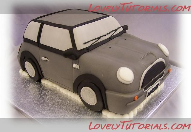 Торт машина Mini Cooper -Carved 3D Mini Cooper car cakes - Мастер-классы по украшению тортов Cake Decorating Tutorials (How To's) Tortas Paso a Paso