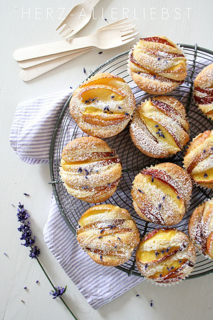Lavender and Nectarine Muffins