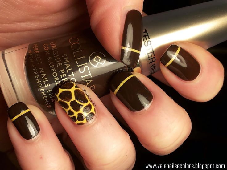 NailS and ColorS: GIRAFFE Nail Art