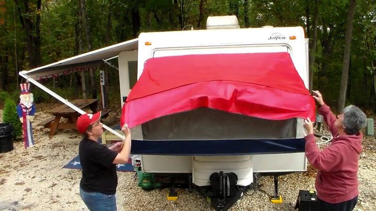 How to shut the bunks on a hybrid camper the easy way