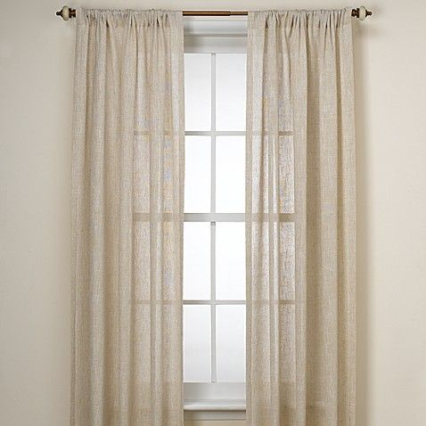 B Smith Barbados Natural Window Curtain Panel Linen Curtain Found