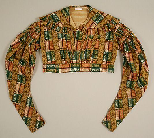 Jacket (Spencer)  Date: 1820s Culture: American or European Medium: cotton