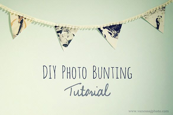 DIY Wedding Decor: Photo Bunting Tutorial