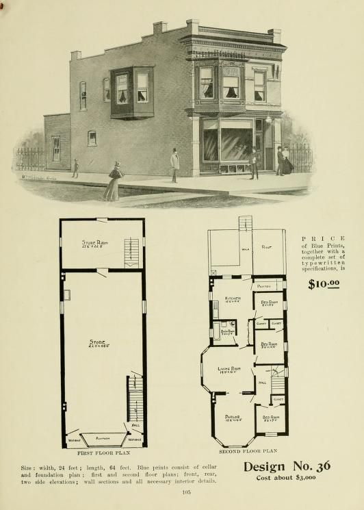 339 best vintage home plans images on pinterest vintage for Ideal house plan