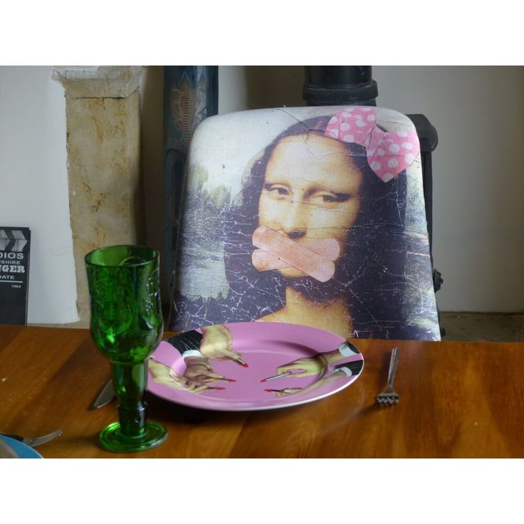 Mona lisa chair designed and upcycled in high quality printed fabric by Anthony Devine the ministry of upholstery, tv furniture from BBC money for nothing