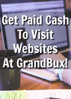 Did you know you could get paid to visit websites? Grandbux will pay you cash just for clicking on ads and visiting websites!