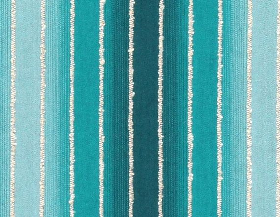 Turquoise Ombre Stripe Upholstery Fabric Fabric